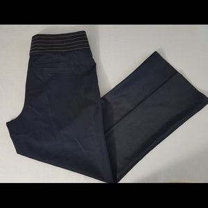 Cache  dark blue wideleg dress pants